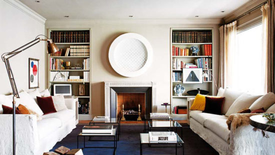 Awesome-Apartment-Interior-Design-Ideas-for-Sitting-Room-with-White-Sofas-and-Glass-Top-Tables