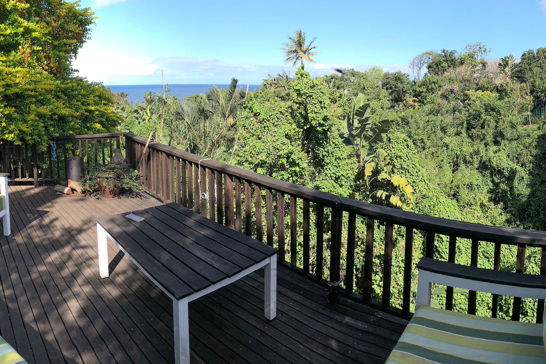 View from a deck onto the sea